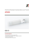 STS - Model ATM/NC - Chemical Resistant Submersible Level Transmitters - Datasheet