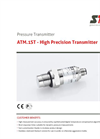 STS - Model ATM.1ST - High Precision Transmitte - Datasheet