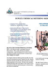 MS2 Series - Duplex Chemical Metering Skid Brochure