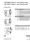 CMS Analog Polymers Series Metering Pumps Datasheet