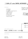 J Digital CD Series Control Instruments Datasheet