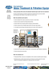 Water Treatment & Filtration Equipment Brochure