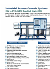 RO-400 Industrial Reverse Osmosis Systems Brochure (PDF 276 KB)