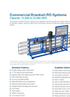 Pure Aqua - Model BWRO RO-300 - Commercial Brackish Water Reverse Osmosis Systems Brochure