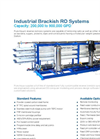 Model BWRO RO-500 - Industrial Brackish Water Reverse Osmosis Systems  Brochure