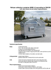 Model MGB 4,5 m³ - Metal Refuse Container Brochure