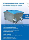 Model UB 2,5 m³ - Rear End Loaded Container - Brochure