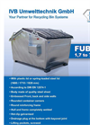 Model FUB 1,7 – 7,5 M3 - Front End Loaded Container - Brochure