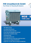 Model 1100 Liter - Refuse Collection Container - Brochure
