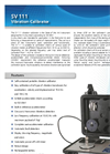 Model SV 111 - Vibration Calibrator Brochure