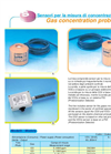 Gas concentration probes Brochure (PDF 120 KB)