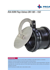 RIA KVM - Model DN 100-600 - Flap Valve for Mounting in Tube Systems - Brochure