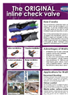 WaStop - - Inline Check Valves  Brochure