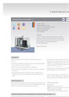 Model MDR - F - Control Pressure Switch Brochure