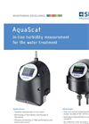 AquaScat - Model 2 WTM - On-Line Turbidimeter Brochure