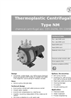 Model NM - Centrifugal Pumps Brochure