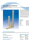 MicroSentry - Model R Series - Resin-Bonded Fiber Glass Filter Cartridges for High Viscosity Fluids - Datasheet