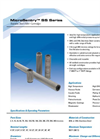 MicroSentry - Model SS Series - Stainless Steel Filter Cartridges Datasheet