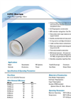 HFC Series High Flow Cartridge Filters - Specification Sheet