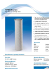 HFEC Series - High Flow Eco Filter Cartridges - Specification Sheet