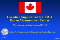 Canadian Radon Program