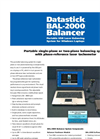 Model BAL-2000 - USB-Powered Portable Balancing System  Brochure