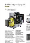 Aquajet - 07 Series - Diesel Driven High Pressure Pump Units Brochure