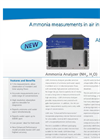 Ammonia Analyzer (NH3, H2O) – Datasheet