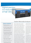 Carbon Monoxide Analyzer (CO, H2O) – Datasheet