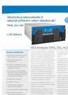 Carbonyl Sulfide Analyzer (OCS, CO2, H2O, CO) – Datasheet