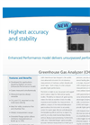 Greenhouse Gas Analyzer (CH4, CO2, H2O) – Datasheet