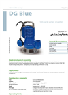 Zenit - DG Blue - Set-Back Vortex Impeller for Submersible Electric Pumps Brochure