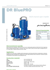 DR BluePRO - Multi-Channel Open Impeller for Submersible Pumps Datasheet