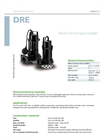 Zenit - DRE - Multi-Channel Open Impeller for Submersible Pumps Datasheet