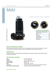 Zenit - MAI - Single-Channel Open Impeller for Submersible Pumps Datasheet