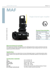 Zenit - MAF - Single-Channel Open Impeller for Submersible Pumps Datasheet