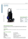 Zenit - GRS - Impeller With Grinder System for Submersible Pump Datasheet