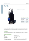 Zenit - APS - High Head Impeller for Submersible Pump Datasheet