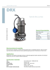 Zenit - DRX - Special Alloy Submersible Electric Pumps Datasheet