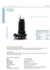 Zenit - GRI - Impeller With Grinder System for Submersible Pump Datasheet