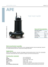 Zenit - APE - High Head Impeller for Submersible Pump Datasheet
