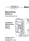 MicroTron - Model Series A - Metering Pump Manual