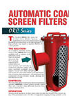 Model ORC Series - Self-Cleaning Coarse Strainer- Brochure