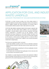 Civil And Industrial Waste Landfills Application Notes