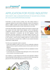 Food Industry Application Notes