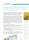 Gold Processing Industry Application Notes