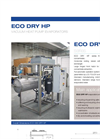 ECO DRY HP-C Series Low Temperature Vacuum Evaporator with Heat Pump and Endless Scraper-Screw - Datasheet