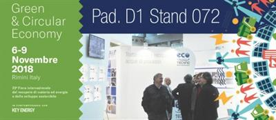ECO-TECHNO AT ECOMONDO 2018, FROM 6 TO 9 NOVEMBER IN RIMINI – ITALY