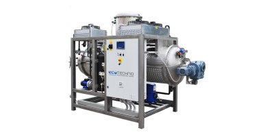 ECO - Model DRY HP-C Series - Low Temperature Wastewater Evaporator with Heat Pump and Endless Scraper-Screw