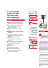 FlatTrak - Model 780S - In-Line Immersible Thermal Gas Mass Flow Meter with Flow Conditioning - Datasheet